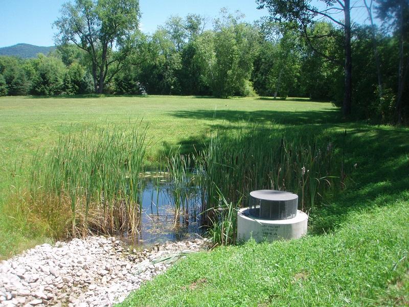 Stormwater management enman engineers rutland vt for Design of stormwater ponds